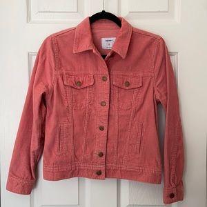 New Old Navy Pink Corduroy Jacket